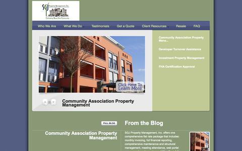 Screenshot of Home Page sgjpropertymanagementinc.com - SGJ Property Management, Inc. | Cultivating Home Into Community - captured Sept. 30, 2014