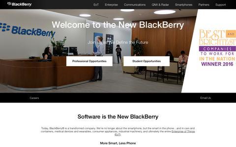 Screenshot of Jobs Page blackberry.com - BlackBerry Jobs – BlackBerry Careers - captured Aug. 18, 2017