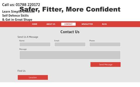 Screenshot of Contact Page ju-jitsu-rugby.com - Contact Ju Jitsu Rugby - captured Jan. 9, 2016