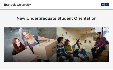 New Undergraduate Student Orientation | Brandeis University