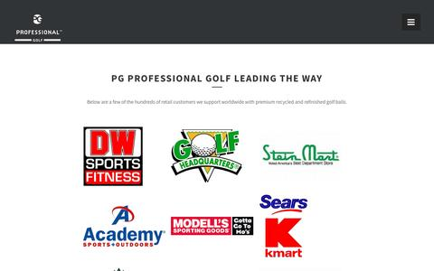 Screenshot of Case Studies Page pgprofessionalgolf.com - Customers we work with » PG Professional Golf - captured May 13, 2017