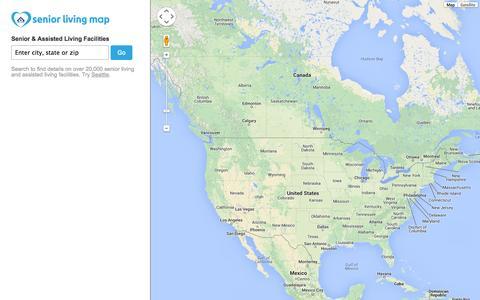 Screenshot of Home Page seniorlivingmap.org - Senior Living Map - Senior & Assisted Living Facilities - captured Sept. 30, 2014
