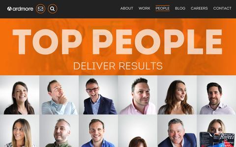 Screenshot of Team Page ardmore.co.uk - Meet your team - Ardmore Advertising - captured Feb. 6, 2016