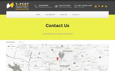 Screenshot of Contact Page xpertconsultancy.in - Contact Us - XpertConsultancy - captured July 20, 2016