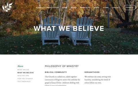 What We Believe — metanoia ministries