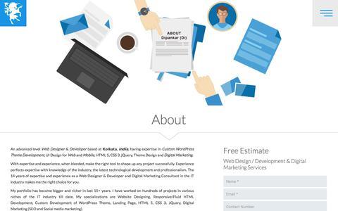 Screenshot of About Page dbanerjee.com - Responsive Web Designer Kolkata | WordPress Designer India - captured June 25, 2017