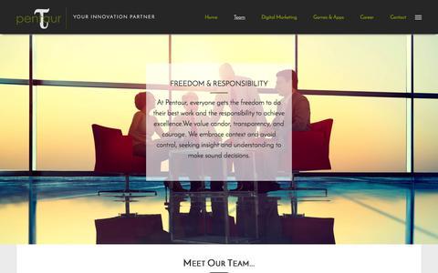 Screenshot of Team Page pentaur.com - :: Pentaur Technologies :: - captured Nov. 1, 2016