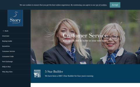Screenshot of Support Page storyhomes.co.uk - Customer Service - Story Homes - captured Oct. 31, 2017