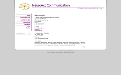 Screenshot of Terms Page neuroact.com - Legal Information - captured Feb. 14, 2016