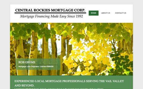 Screenshot of Menu Page centralrockies.com - Central Rockies Mortgage Corp | Mortgage Financing Made Easy Since 1992 – (970) 845-7000 - captured Nov. 1, 2014
