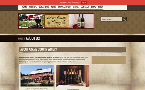 Screenshot of About Page adamscountywinery.com - About Us - Adams County Winery-Adams County Winery - captured Dec. 23, 2015