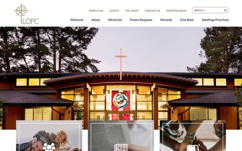 Screenshot of Home Page lopc.org - Lafayette-Orinda Presbyterian Church - captured July 12, 2017