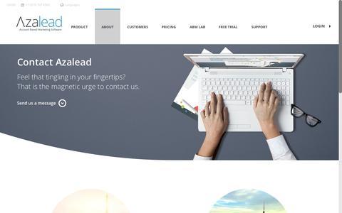 Contact - Azalead Sales Acceleration Software
