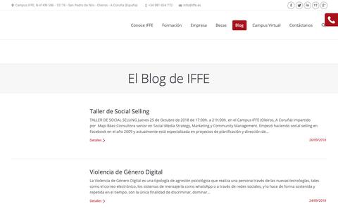 Screenshot of Blog iffe.es - IFFE   El Blog de IFFE - IFFE - captured Sept. 30, 2018
