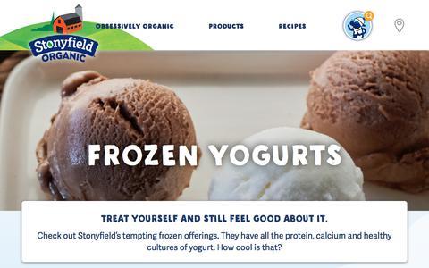Organic Frozen Yogurt | Stonyfield