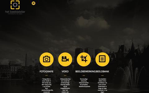 Screenshot of Services Page hetbeeldatelier.nl - Services   professioneel fotograaf - captured Nov. 5, 2014