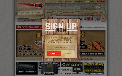 Screenshot of Home Page kygunco.com - Guns For Sale Online - Kentucky Gun Co. - captured Nov. 16, 2015
