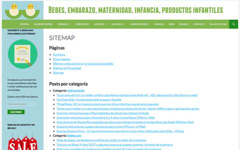 Screenshot of Site Map Page bebes.uno - Sitemap - captured Oct. 11, 2017