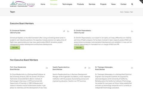 Screenshot of Team Page fasmatech.com - Fasmatech -   Team - captured Nov. 25, 2016
