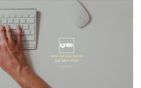 Screenshot of Blog ignitedesign.co.uk - Graphic Design Blog - Ignite Design | Graphic Designers - captured Sept. 24, 2015