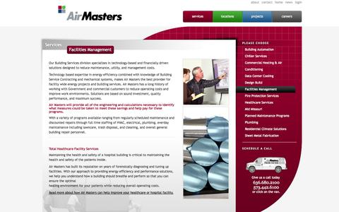 Screenshot of Team Page airmasters.com - Facilities Management | Air Masters Corporation - captured Oct. 4, 2014