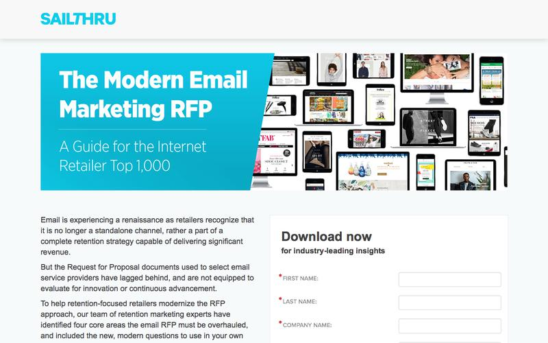 Email Marketing RFP for Retailers   Sailthru