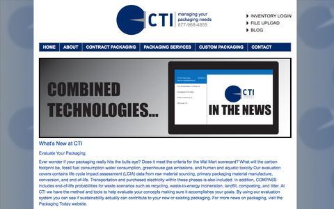 Screenshot of Press Page ctipack.com - NEWS | Combined Tech - captured Oct. 23, 2014