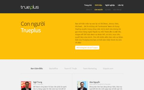 Screenshot of Team Page Developers Page trueplus.vn - Con người | TruePlus - captured Oct. 26, 2014