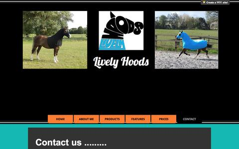 Screenshot of Contact Page livelyhoods.co.uk - Contact - captured May 20, 2017