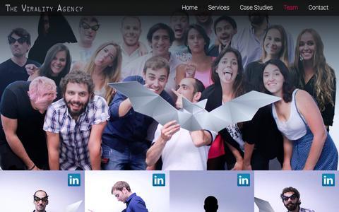 Screenshot of Team Page theviralityagency.com - TVA | OUR TEAM - captured Nov. 5, 2014