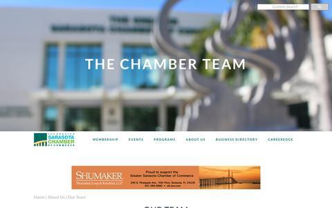 Screenshot of Team Page sarasotachamber.com - Our Team | Greater Sarasota Chamber of Commerce - captured Sept. 30, 2018