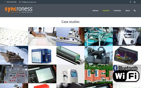 Screenshot of Case Studies Page syncroness.com - Syncroness Case Studies | Syncroness - captured Nov. 18, 2015