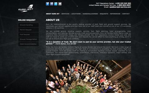 Screenshot of About Page eurojet-service.com - About Us | Euro Jet - captured Oct. 3, 2014