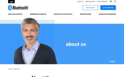Screenshot of About Page bluetooth.com - About Us |  Bluetooth Technology Website - captured Nov. 22, 2016