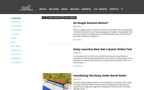 Screenshot of Press Page daisypoolcovers.com.au - News   Daisy Pool Covers & Rollers - captured July 6, 2017