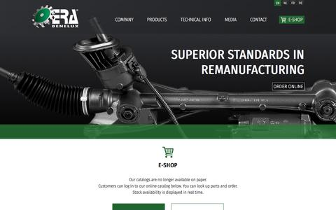 Screenshot of Login Page erabenelux.be - ERA Benelux     > E-Shop - captured Sept. 26, 2018