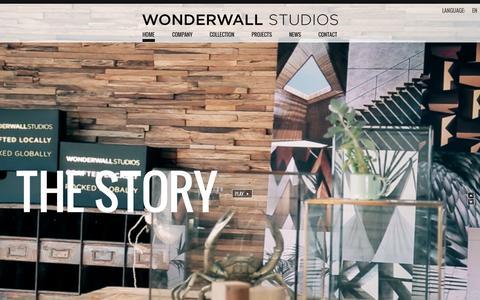 Screenshot of Home Page wonderwallstudios.com - Wonderwall Studios - captured Nov. 3, 2015