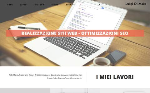Screenshot of Home Page dimaioweb.com - Sviluppo siti web, e-commerce, seo e gestione social network a Napoli | Luigi Di Maio - captured Jan. 22, 2016