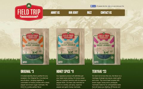 Screenshot of Products Page fieldtripjerky.com - Products | Field Trip Jerky - captured Sept. 30, 2014