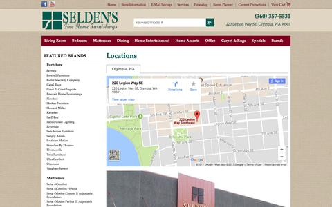 Screenshot of Contact Page Locations Page seldensofolympia.com - Contact Seldens of Olympia in Washington - captured Nov. 3, 2017