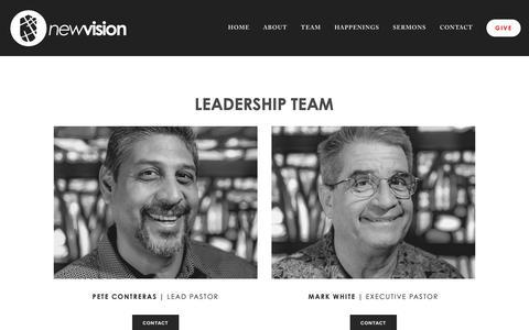 Screenshot of Team Page newvision.city - Team — New Vision Church - captured Nov. 16, 2018