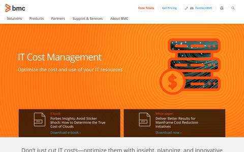 Screenshot of Pricing Page bmc.com - IT Cost Management - BMC Software - captured Dec. 14, 2019