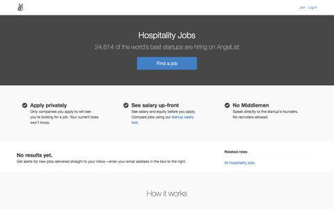 Hospitality Jobs - AngelList