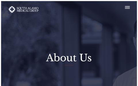 Screenshot of About Page samedgrp.com - South Alamo Medical Group - captured Oct. 18, 2018