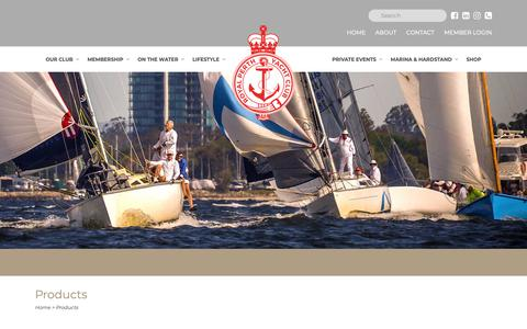 Screenshot of Products Page rpyc.com.au - Royal Perth Yacht Club Shop   Royal Perth Yacht Club - captured Oct. 18, 2018