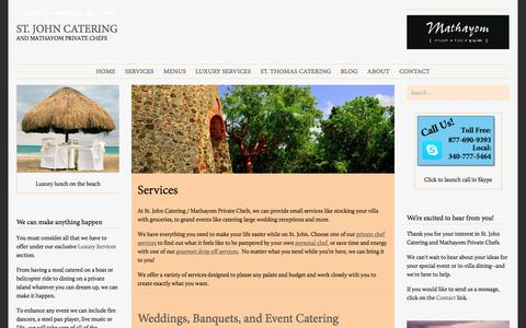 Screenshot of Services Page stjohncatering.com - Services | St. John Catering - captured Feb. 17, 2016