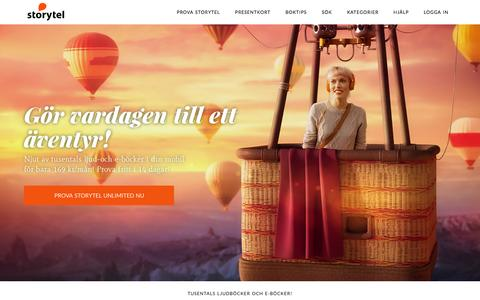 Screenshot of Home Page storytel.se - Storytel - Ljudböcker & E-böcker i mobilen - captured Feb. 18, 2016