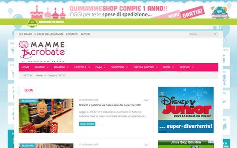 Screenshot of Blog mammeacrobate.com - BLOG Archives - Mammeacrobate - captured Sept. 25, 2014