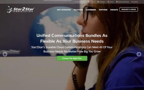 Screenshot of Home Page star2star.com - Star2Star: World's Most Scalable Cloud Communications Solution - captured Feb. 20, 2016
