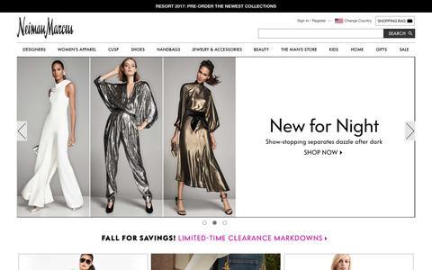 Designer Clothing, Shoes, Handbags, & Beauty | Neiman Marcus